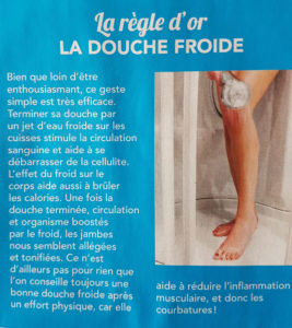 DOUCHE FROIDE RECUPERATION SPORT