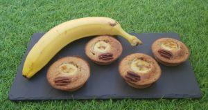 Muffins banane pécan
