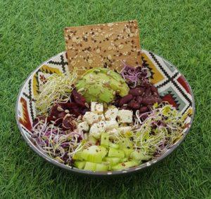 Bowl salade repas du sportif